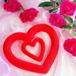 Сердце и розы.