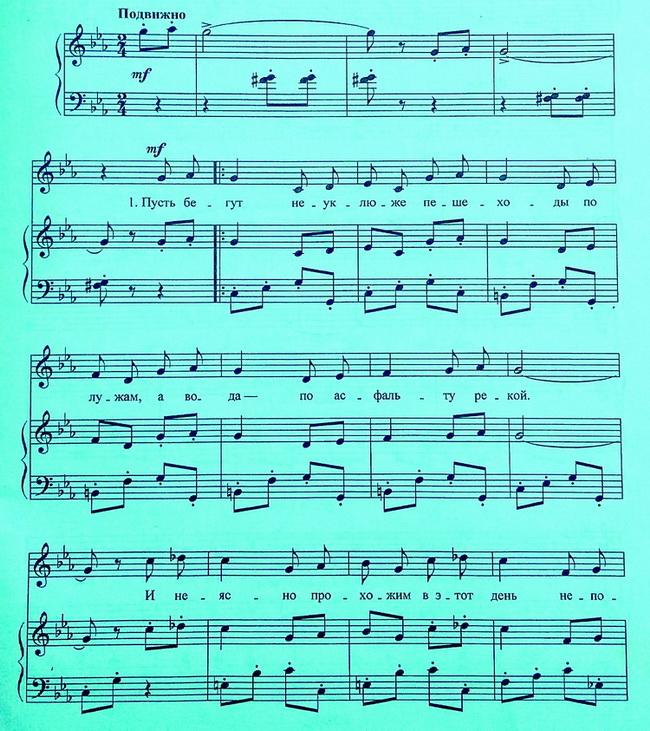 Песенка крокодила Гены ноты для фортепиано