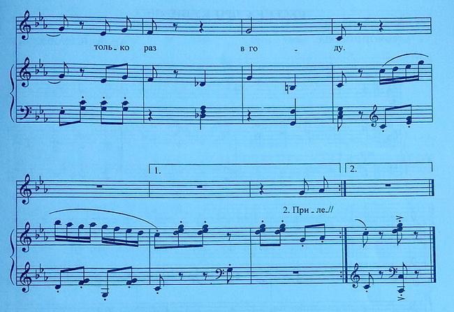ноты пусть бегут неуклюже для фортепиано