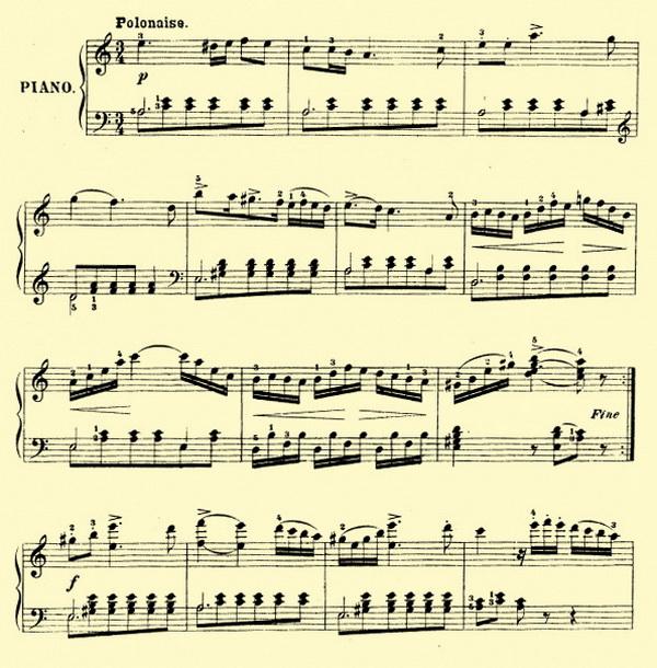 Полонез Огинского ноты для фортепиано